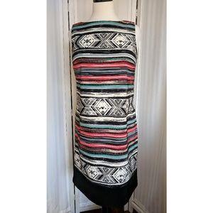 AB Studio sleeveless shift dress